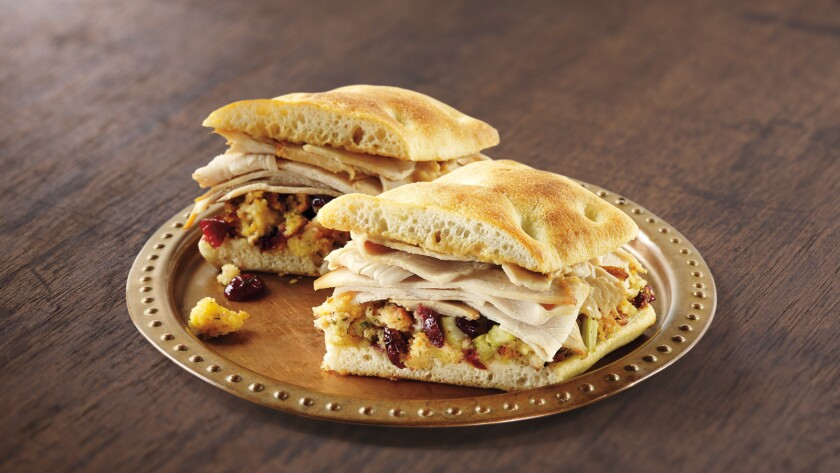 Starbucks has recalled its holiday turkey panini sandwiches at some locations in California, Oregon and Nevada after discovering an ingredient used in the sandwiches was linked to a recent E. coli outbreak.
