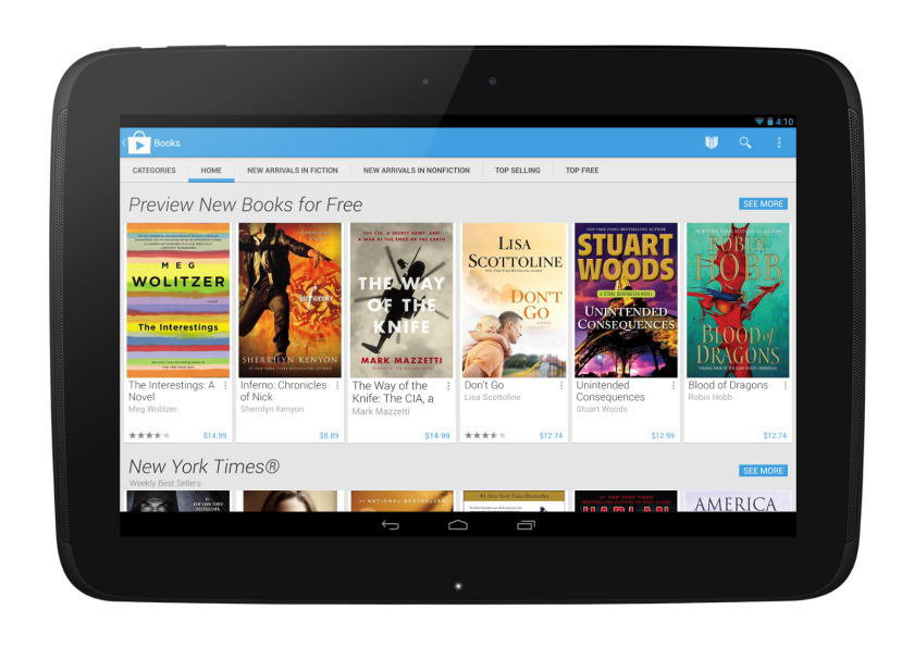 Google Play for Android redesigned with cleaner, minimalist look