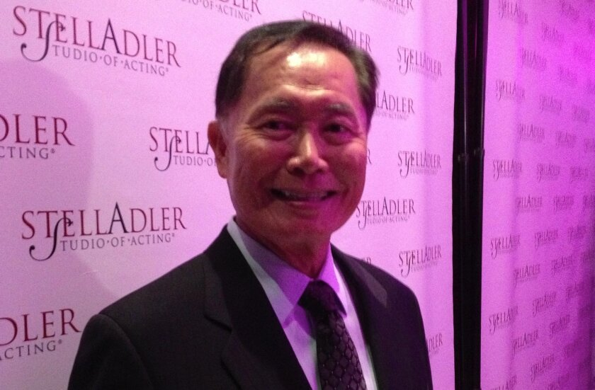 """George Takei talked about how the Old Globe Theatre-launched musical """"Allegiance"""" figures into his spirit of advocacy as he accepted an award at the Stella Adler Studio of Acting in New York on Monday night."""