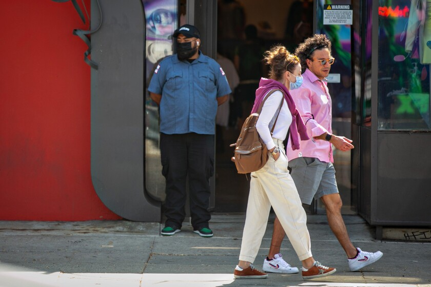 Businesses on Melrose strip are hiring security guards.