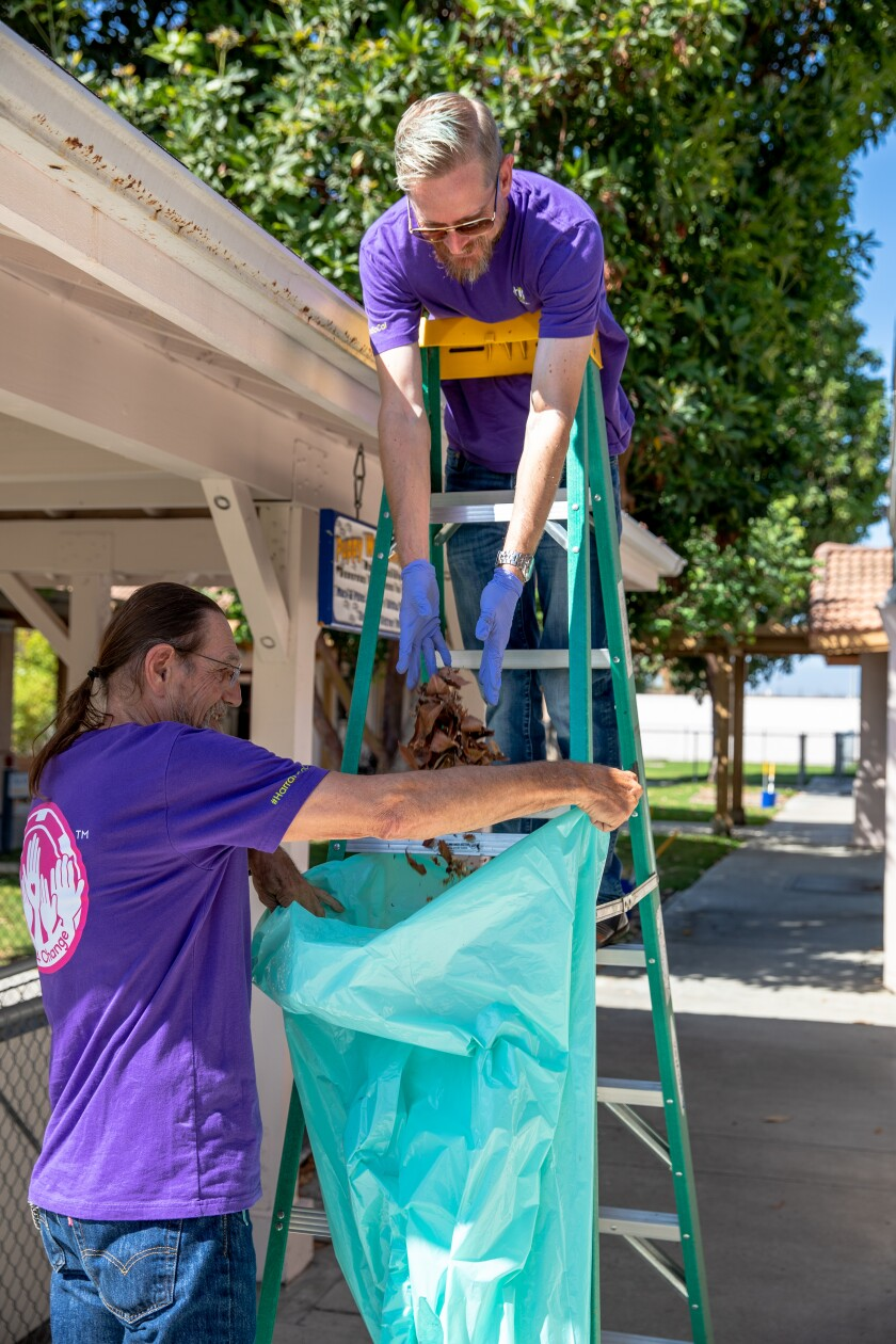 In addition to cash donations from the casino, Harrah's SoCal team members also volunteer time and hard work at various organizations, such as Canine Companions.