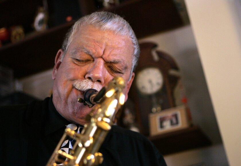 San Diego jazz sax great Gary LeFebvre, shown above in 2006, died Aug. 7, after suffering a stroke in February.  Photo by John Gastaldo/The San Diego Union-Tribune/Zuma Press.