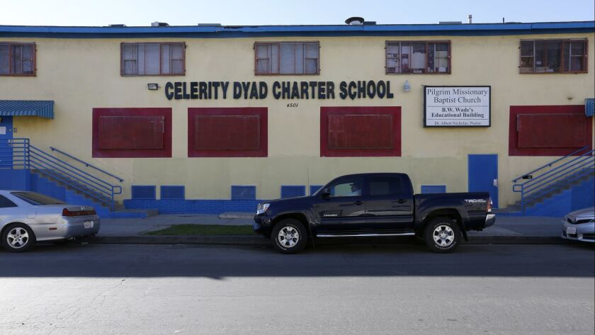LOS ANGELES, CALIF. -- FRIDAY, JANUARY 27, 2017: Celerity Dyad Charter School, one of seven L.A. sch
