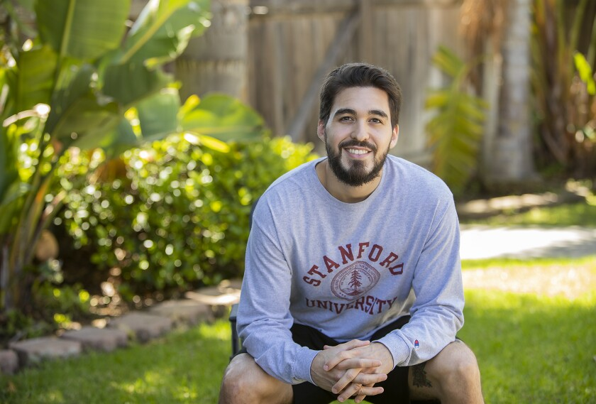 Austin Salcedo, a student at Orange Coast College, will be transferring to Stanford University in the fall.