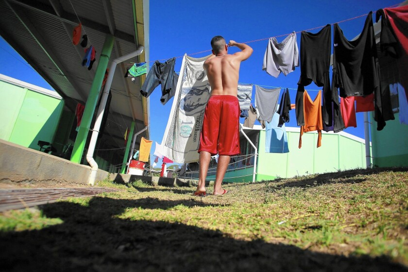 Cuban migrant in Costa Rica