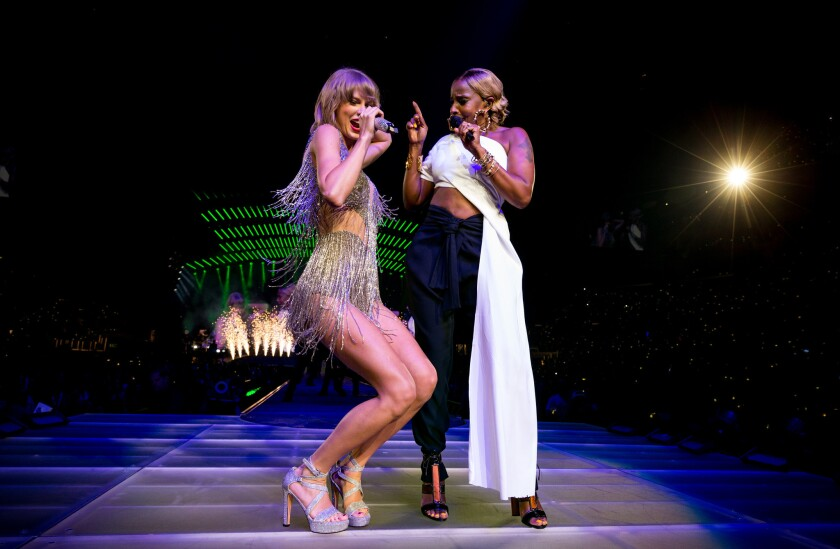 Taylor Swift and Mary J. Blige