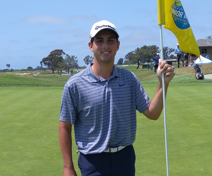 Gavin Aurilia wins the 15-18 boys division at the Junior World Championships on Friday.