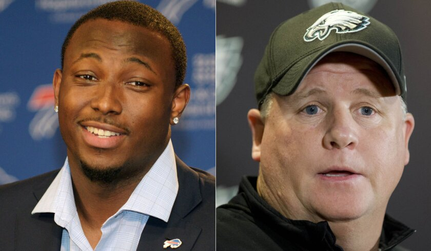 Running back LeSean McCoy, left, says he was surprised when he was traded by Coach Chip Kelly and the Philadelphia Eagles.