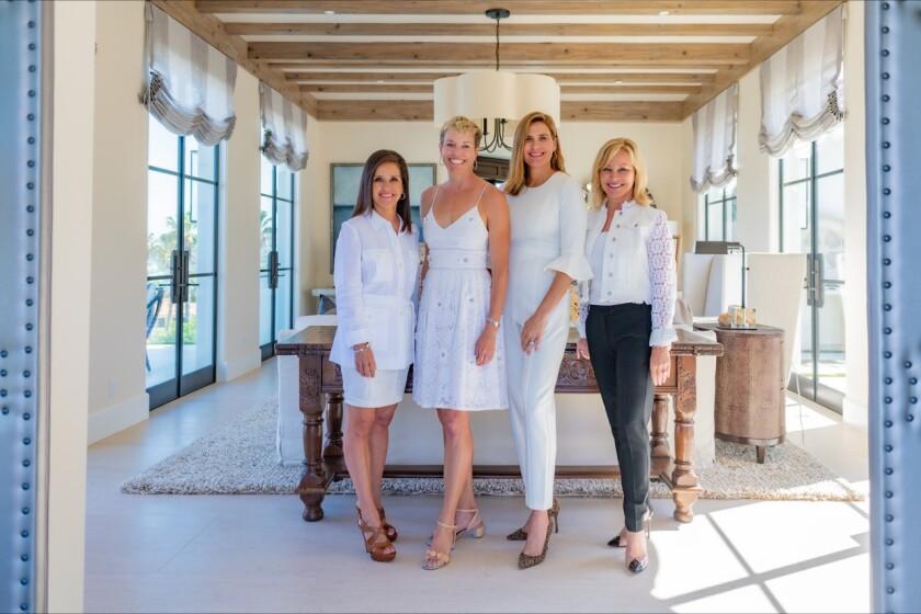 (L-R) Stefanie Bedingfield, President; Keri Riney, Silver tea cochair; Chelsea Sessa, Silver Tea chair; Dawn Davidson