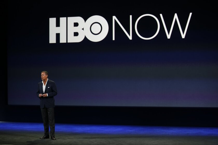HBO CEO Richard Plepler introduces HBO Now, a new stand-alone Internet streaming service, during an Apple event in San Francisco.