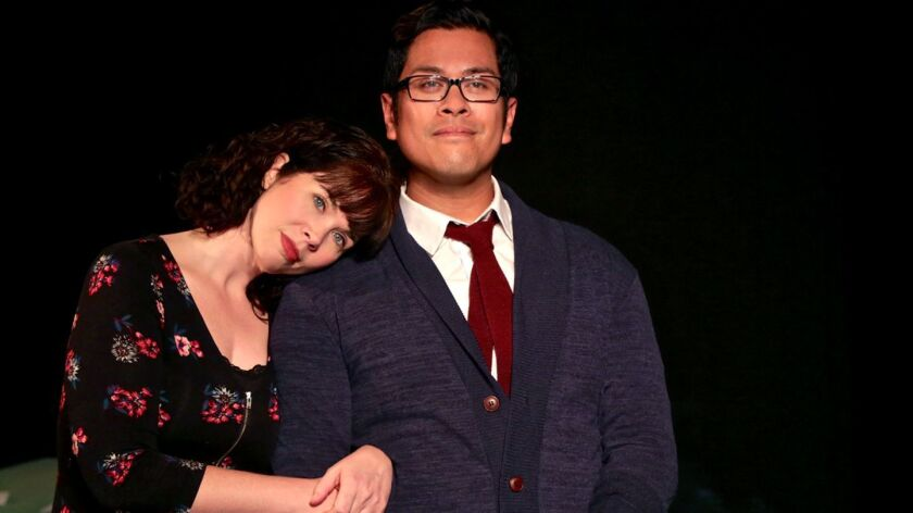 """Jamie Channell and Patrick Mayuyu are Deb and Warren in InnerMission Productions' """"Ordinary Days."""""""