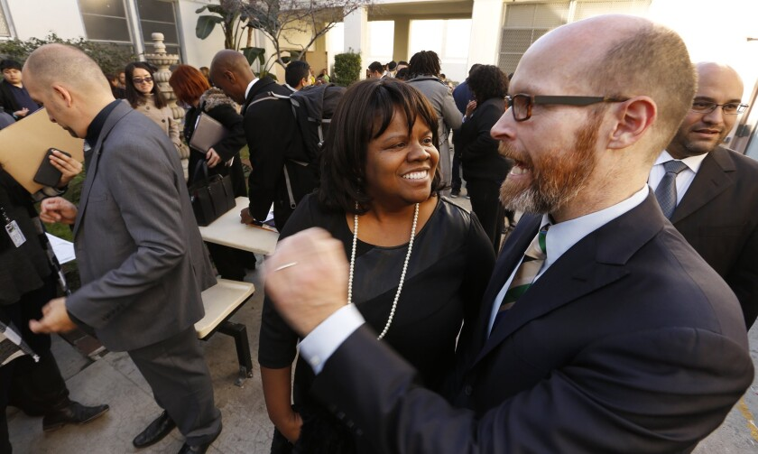 Dixon Slingerland, right, was fired last month as the top executive of Youth Policy Institute.