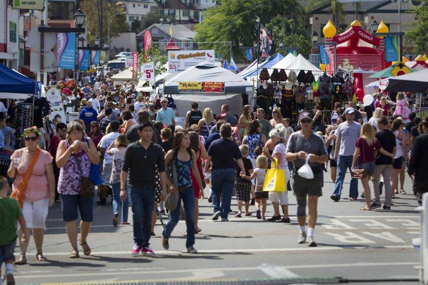 La Mesa Oktoberfest in 2011 -- yes, it gets crowded