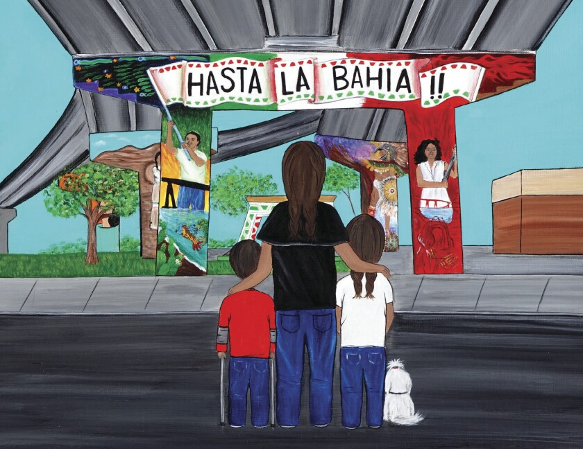 "An illustration from the new book ""The Spirit of Chicano Park / El espíritu del Parque Chicano."""