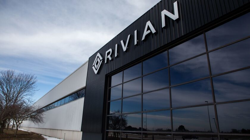 Rivian Automotive, housed in the former Mitsubishi plant in Normal, Ill., could soon be producing all-electric pickup trucks there.