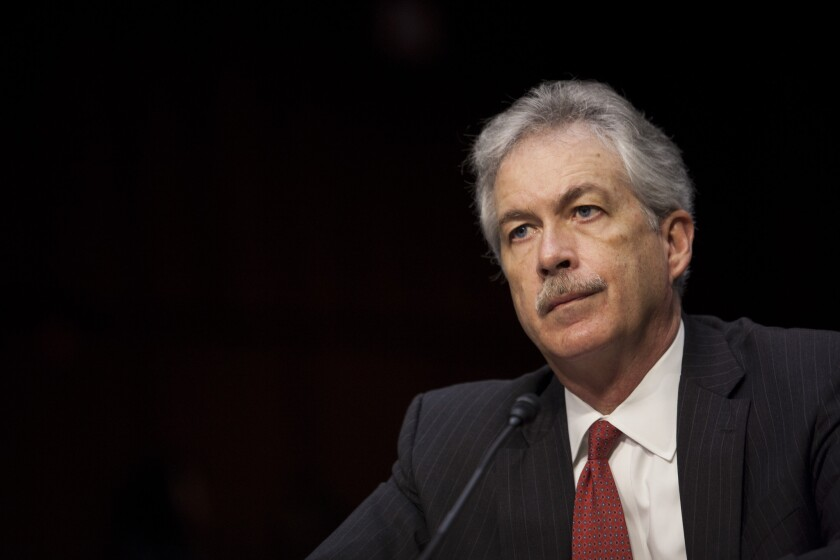 Then-Deputy Secretary of State William Burns at a Senate Foreign Relations Committee hearing in 2012
