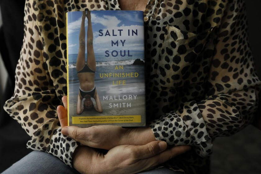Beverly Hills, CA March 6, 2019: Diane Shader Smith holds her daughter's memoir, Salt in My Soul in