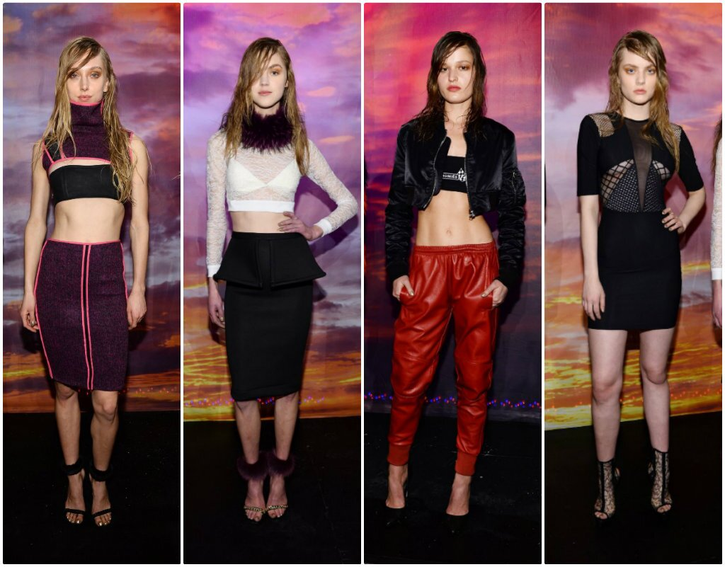 Looks from the fall and winter 2014 motocross-inspired Brian Lichtenberg collection presented at the Hudson Hotel during New York Fashion Week.