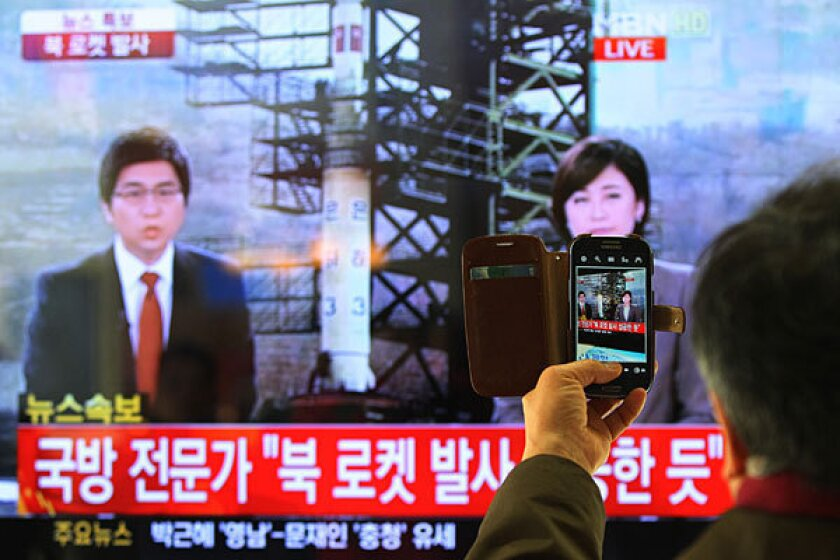 North Korea defies West with second firing of long-range rocket