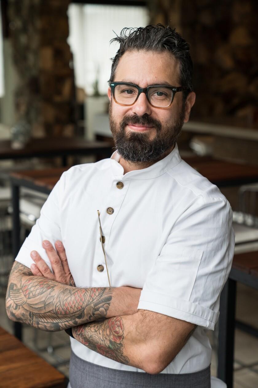 Executive chef Andrew Santana