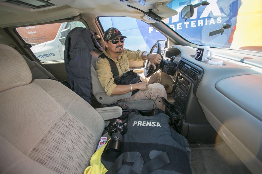 """Tijuana """"fixer"""" Margarito Martinez, a photographer himself helps visiting photojournalists and reporters to navigate the complexities of Tijuana. He was photographed in Tijuana on Thursday, October 3, 019."""
