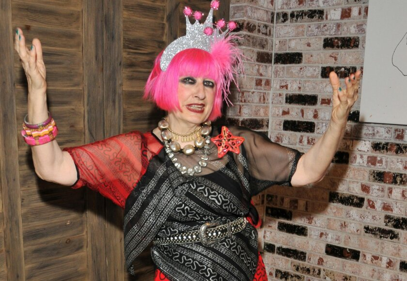 Designer Zandra Rhodes is now a Dame of the British Empire.
