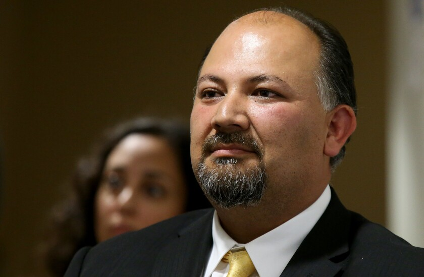 José Cole-Gutiérrez, the head of L.A. Unified's charter school division