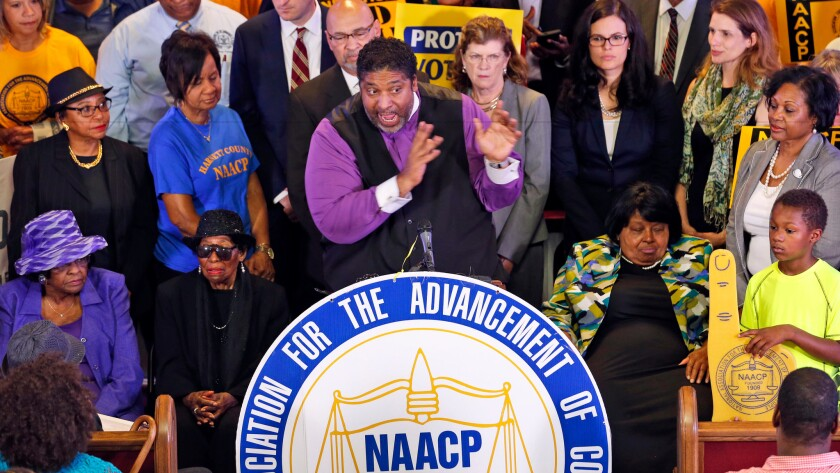 North Carolina NAACP president Rev. William Barber and supporters in Richmond, Va. June 21