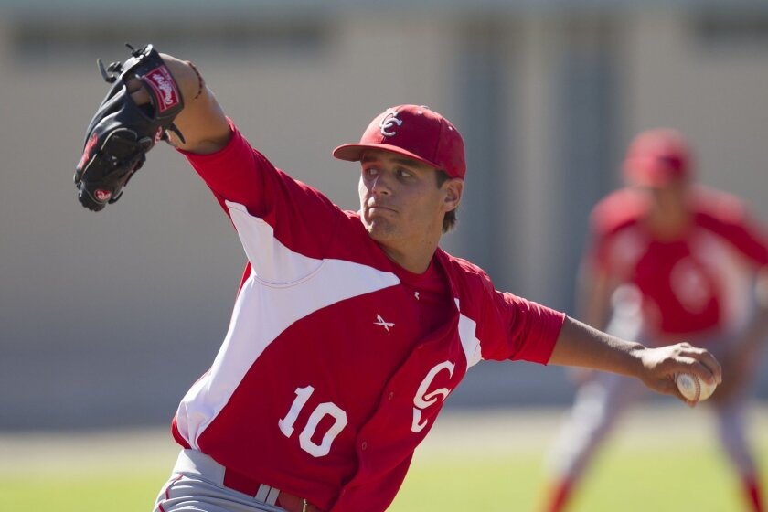 Pitcher Brady Aiken plays only baseball at Cathedral Catholic, but he takes a break to give his arm and mind a rest.
