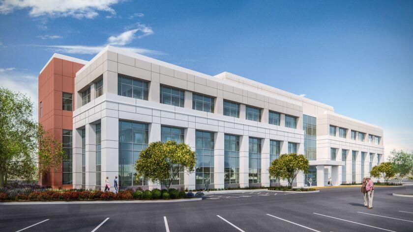 Artist rendering of a new medical office building at Scripps Encinitas