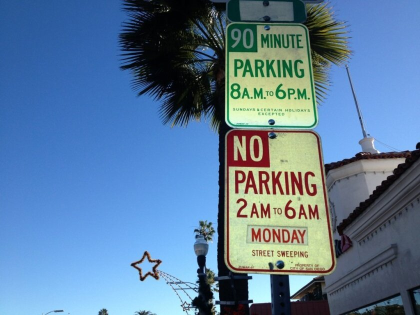 Free on-street parking has been bumped from 60-90 minutes in the 7700-7900 blocks of Girard Avenue.