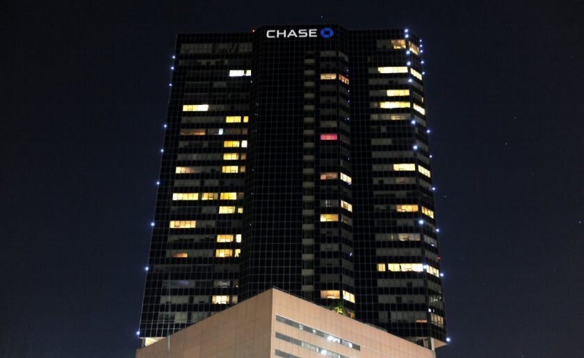 Chase Bank reached a deal with condominium owners to add its name to the downtown Los Angeles skyline.