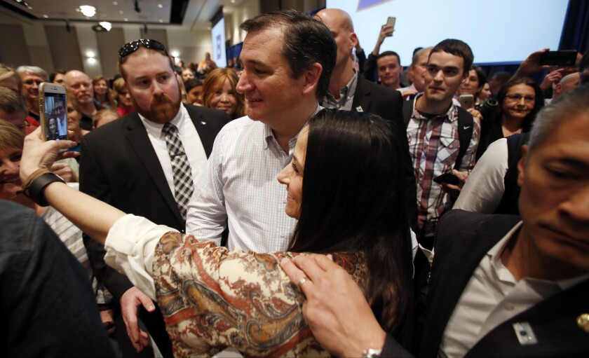 Ted Cruz campaigns in Idaho