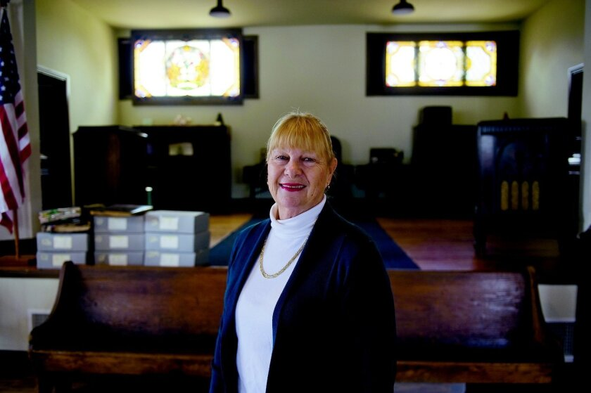 Tanis Brown is the president of the San Marcos Historical Society, which safeguards the city's past from a small collection of historic buildings in Heritage Park. Tom Pfingsten