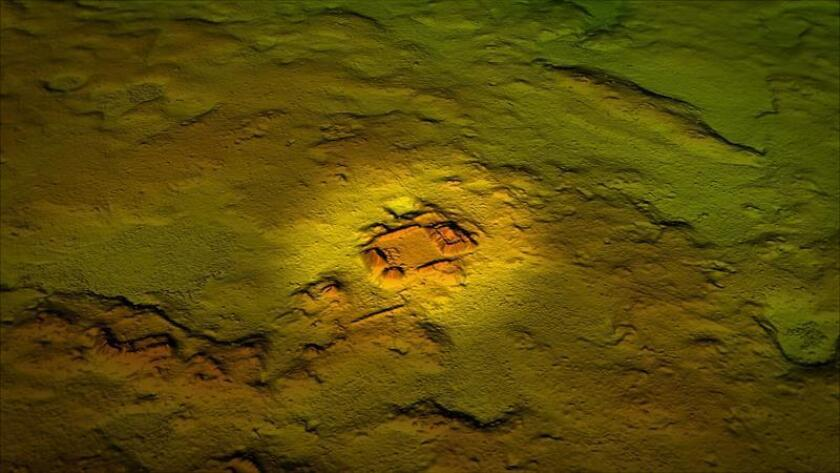 View of the archaeological remains of the ancient Mayan site of La Corona in Guatemala, taken with the laser technology called LiDAR (Light Detection And Ranging), with which more than 60,000 ancient structures have been identified with images obtained through the cover of the jungle. EFE-EPA/Courtesy National Geographic/File