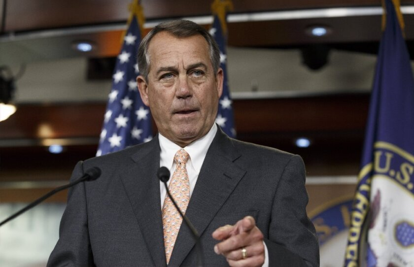 House Speaker John Boehner is seen Thursday speaking about the special select committee he formed to investigate the deadly 2012 Benghazi attack.