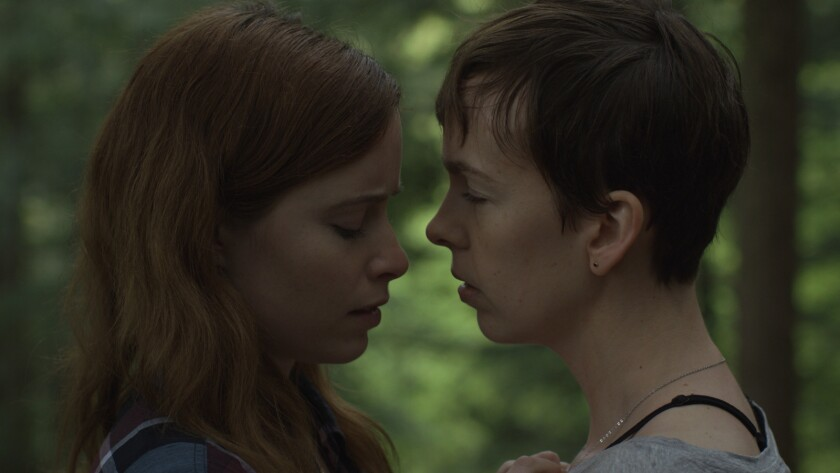 "Hannah Emily Anderson, left, and Brittany Allen in the movie ""What Keeps You Alive."""