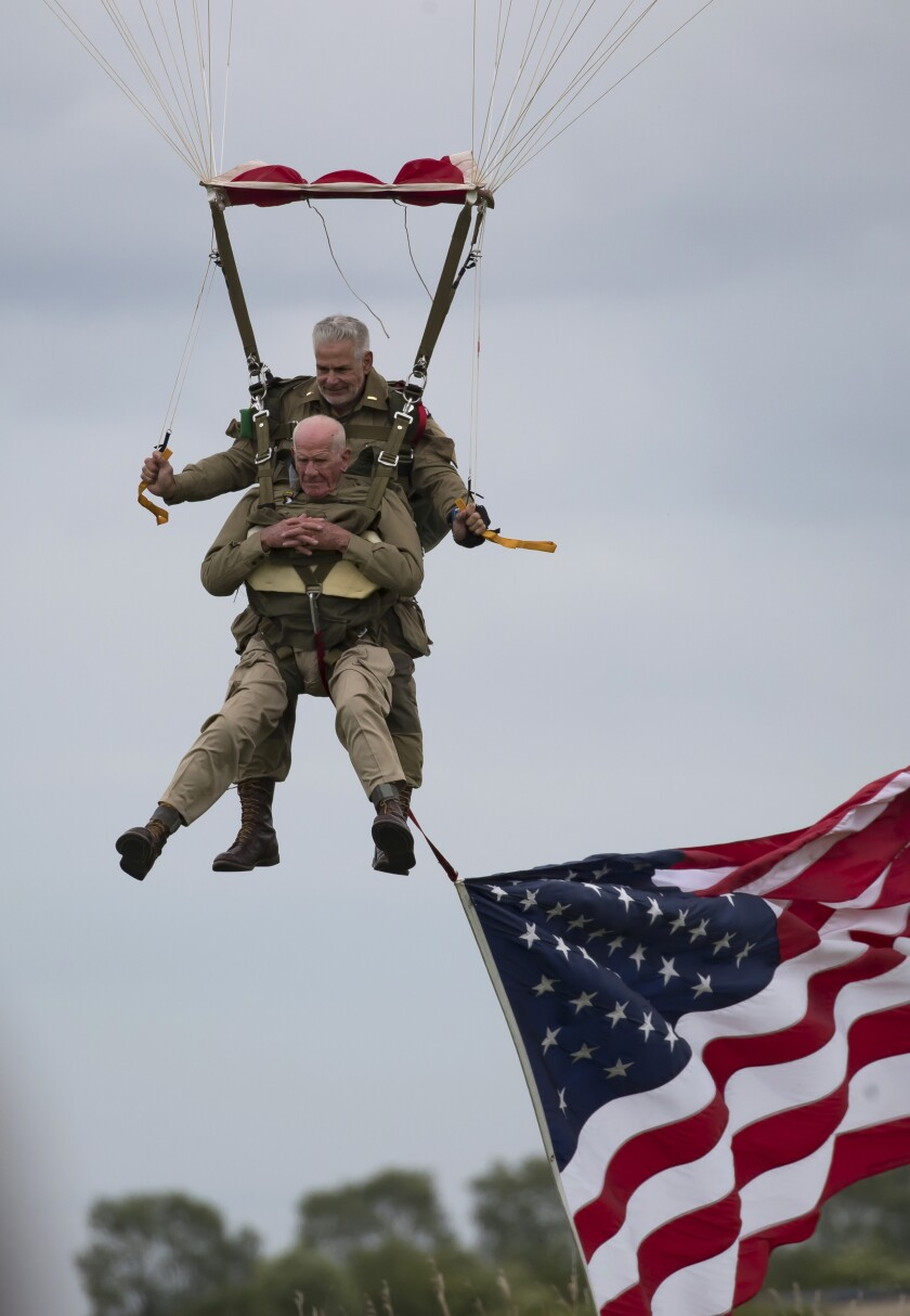 APphoto_France D-Day Parachuting Over Normandy