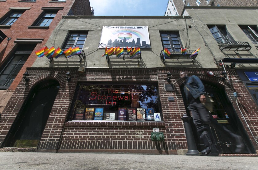President Barack Obama is designating the Stonewall Inn in New York, seen in 2014, a national monument — the first to honor gay rights.