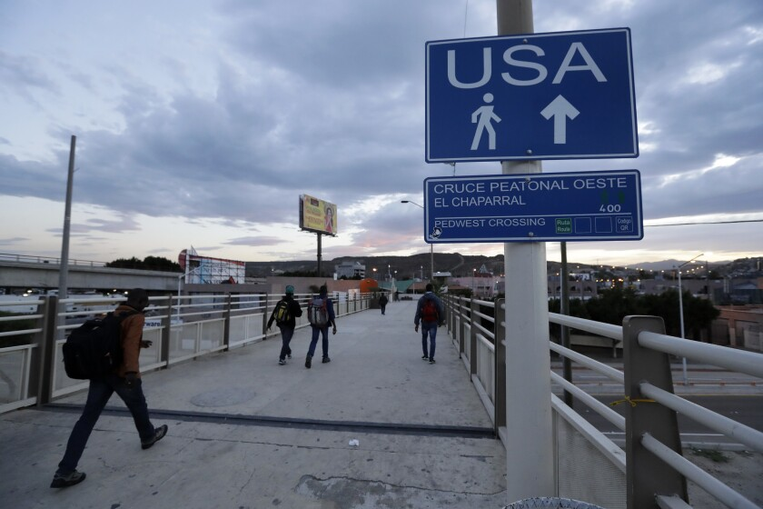 U.S.-Mexico border crossing in San Ysidro.
