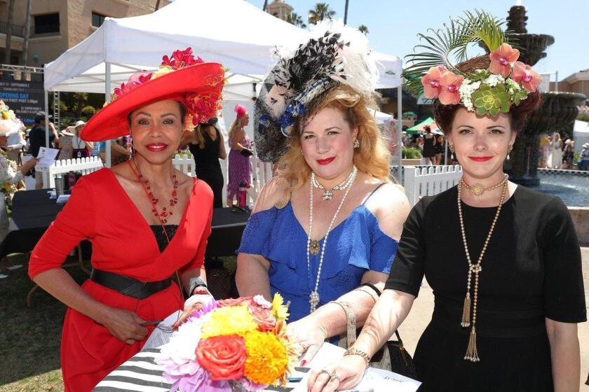 Del Mar's racing season last year featured the popular 25th annual Opening Day Hats Contest.