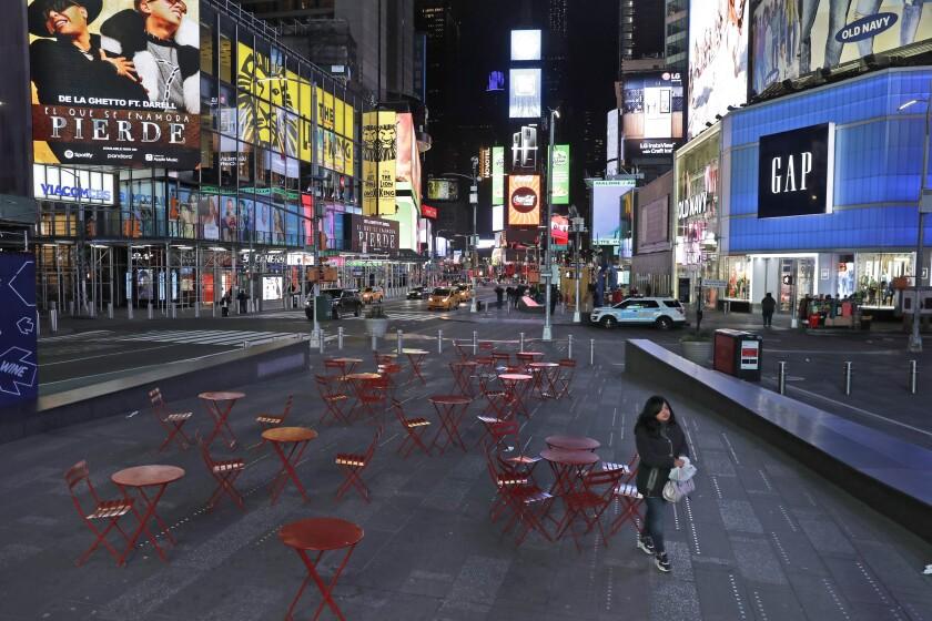 Virus Outbreak Empty New York Photo Gallery