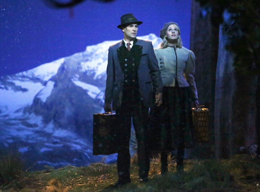 """This photo provided by NBC shows Stephen Moyer, left, as Captain Von Trapp and Carrie Underwood as Maria, in """"The Sound of Music Live!"""" After the slam-bang triumph of last week's """"The Sound of Music Live!,"""" NBC understandably now is full-speed-ahead with plans to mount more live musicals in coming seasons. (AP Photo/NBC, Will Hart)"""