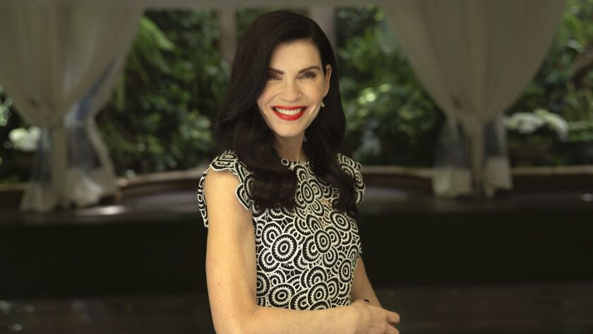 BEVERLY HILLS, CA-APRIL 8, 2019: Actress Julianna Margulies, who stars in Hot Zone, the National Ge