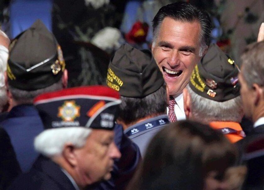 Mitt Romney strongly criticizes President Obama in VFW speech