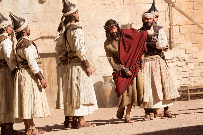 "Religious-themed projects like ""Killing Jesus,"" pictured and ""The Dovekeepers"" on an upswing on broadcast and cable television."