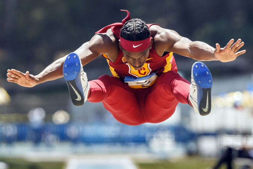USC long jumper Adoree' Jackson is within leaping distance of Olympic trials