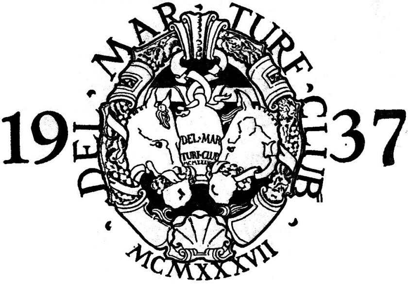 The Del Mar Turf Club logo between 1937 and 1968, the time when J. Edgar Hoover frequented the race meet.