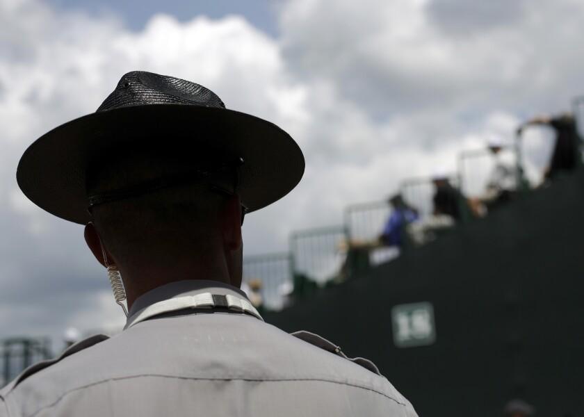 Trooper Firing Lost Hat