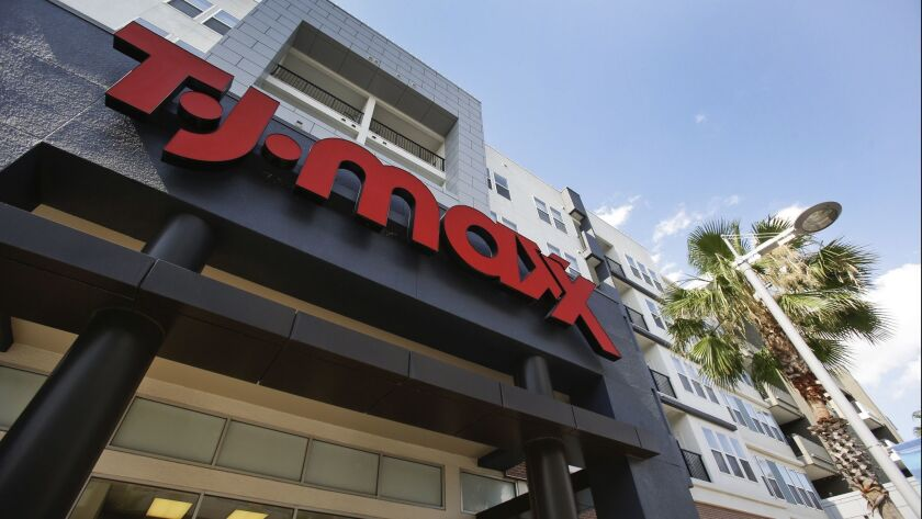 A TJ Max store located in a shopping plaza is seen,Tuesday, May 16, 2017, in Orlando, Fla. (AP Photo